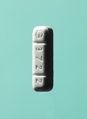 Single white pill tablet