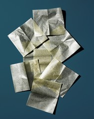 Pieces of cosmetic blotting paper