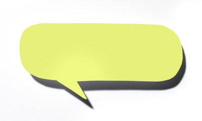 Yellow paper speech bubble