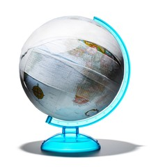 Globe wrapped with gauze bandages