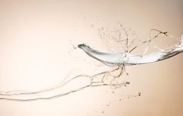 Splashing lotion studio shot