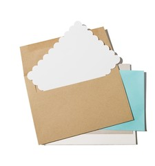 Paper envelopes with blank notecards