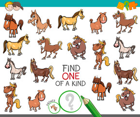 find one of a kind with horse animal characters