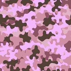 Camouflage fashion pattern seamless background. Abstract fun animal military camouflage. Seamless pattern for party, dress, shirt, children fashion cloth textile. Colorful modern style. Vector eps8.