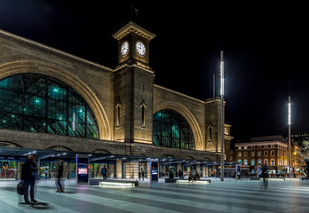 Kings cross station in the night, London