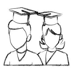 Students in graduation avatar icon vector illustration graphic design