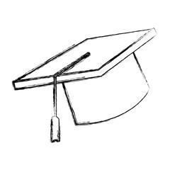 Graduation hat cap icon vector illustration graphic design
