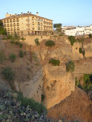 Ronda,ciudad monumental de Málaga (Andalucia,España) situada sobre un desfiladero