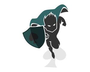 spade heroes mascot cartoon character