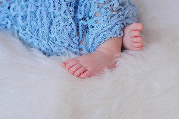 Close up picture of baby feet