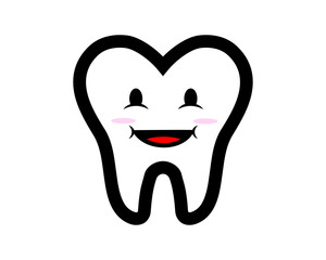 cute funny tooth face teeth dent dental dentist image icon
