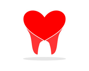 heart tooth teeth dental dentist dent image icon