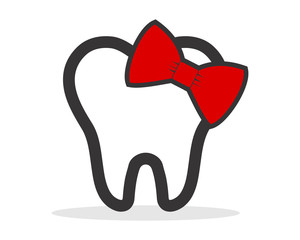 ribbon tooth teeth dent dental dentist image icon