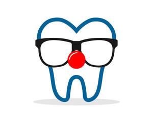 clown tooth teeth dent dental dentist image icon