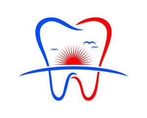 sunset tooth teeth dent dental dentist image icon