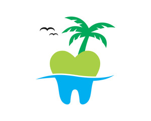 island tooth teeth dent dental dentist image icon
