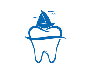 sail ship tooth teeth dent dental dentist image icon