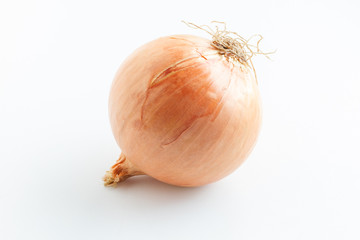 Onion vegetable on white background.