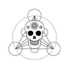 Ornamental Skull with Geometric Symbol