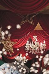 Lampadario Luce di Natale in Sala