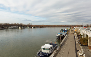 landscape on river Sava and Danube