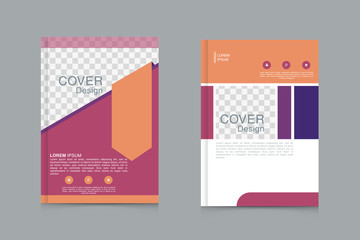 Brochure design template vector. Flyers annual report business magazine poster and portfolio
