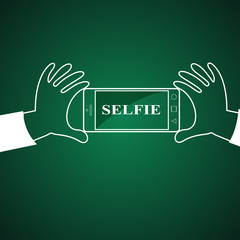Selfie, taking self photo
