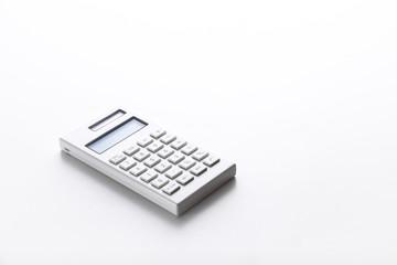 白背景に白い電卓
