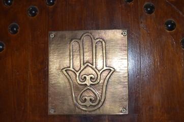 Hand of Fatima in the medina of Marrakech. Morocco