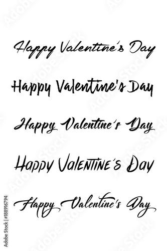 Happy Valentines Day Set Of Calligraphic Quotes Happy Valentine's Stunning Happy Valentines Day Images With Quotes