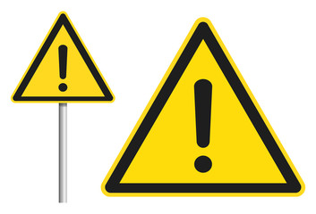 Schild Achtung / Warnung / Arbeitssicherheit