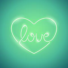 Love Neon Sign Green
