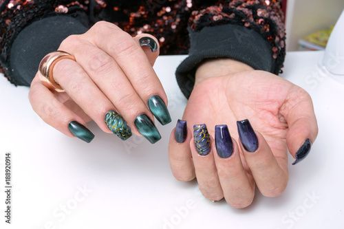 Colorful Nail Art Trendy Crackle Nail Polish Manicure And Nail