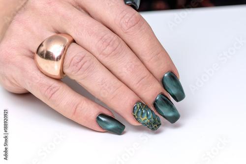 Colorful Nail Art Trendy Crackle Nail Polish Manicure And Nail