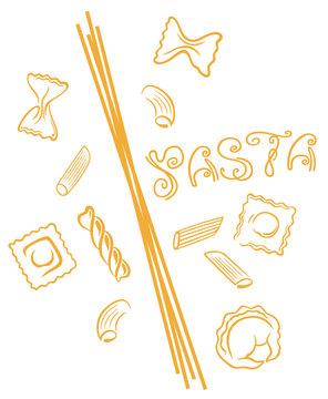 Nudeln, Pasta, Italien. Italienisch kochen.