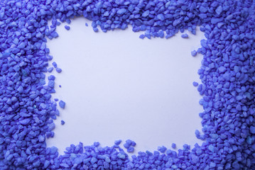 frame of small stones ultra violet color with place for inscript