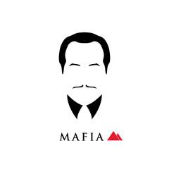 The boss of the Italian mafia. Vector illustration.