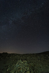 Night photography in the Natural Area of Granadilla. Extremadura. Spain.