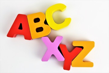 An concept Image of a ABC Letters with copy space