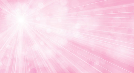 Vector pink  background  with rays and lights.