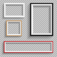 frames set on transparent background
