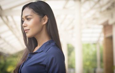 Portrait of a transgender Thai model outdoor