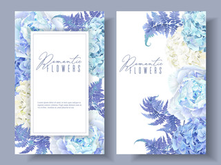 Floral blue banners