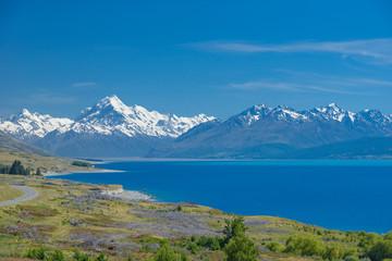Aluminium Prints New Zealand landscape of mt.cook national park, New Zealand