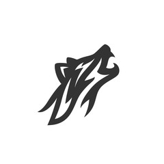 Wolf vector logo illustration on white background. Fox icon
