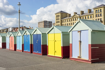 Colorful beach sheds