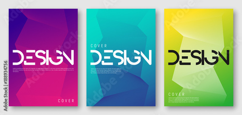 abstract gradient geometric cover designs trendy brochure templates colorful futuristic posters vector illustration - Colorful Brochure Templates