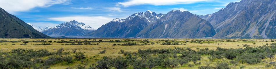 landscape of mt.cook national park, New Zealand