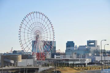 Daikanransha Ferris Wheel in Odaiba Tokyo, Japan.