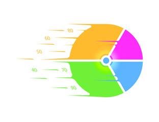 pie graph speed color vector